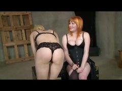 Lesbian Spanking And Belt On