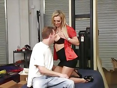 Nasty Tanya Tate get her giant melons out