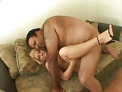 Awesome Kinzy Jo is slammed up her dripping bawdy cleft