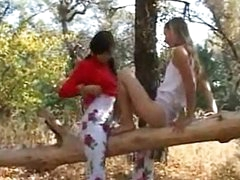Wicked teenies completely naked in forest