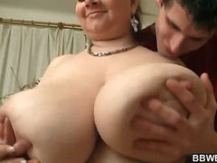 Her fat pussy is filled with large cock