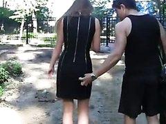 Hawt public fuck in the park