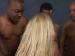 Alicia Interracial Blow Gangbang