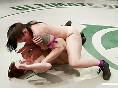 lesbo domination in the wrestling arena