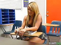 blond honey gets caught and punished truly hard.