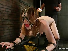 cici rhodes feels pain and enjoyment in the dungeon!