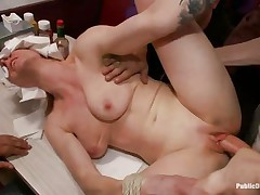 beretta james and her friend acquire drilled in a diner
