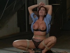 Britney Amber gets tied tight and screwed hard