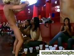 Hurning ladies tempted by stripper