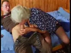 Busty German Granny bonks young Guy