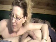 Country MILF downs a long knob to her throat