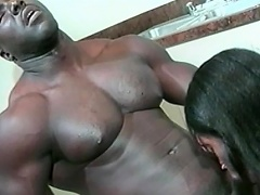 This sexy black babe can't live without her stud to be big and black. See this...