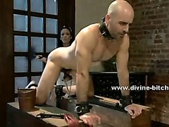 Beautifull maid teaches her supposed boss the ways of servitude femdom sex humiliating him