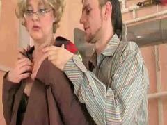 Sexy granny sucks and fucks cock